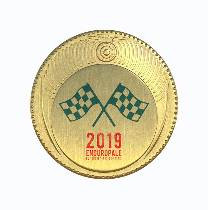 Médaille de l'épreuve Enduropale 2019